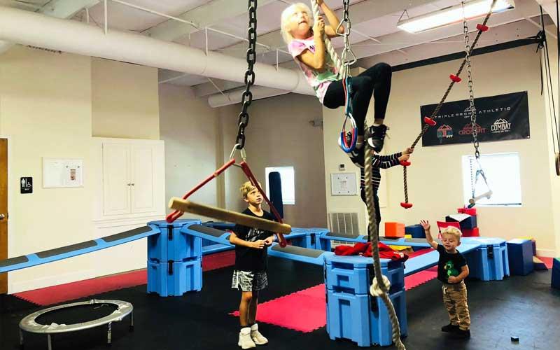 Exercising at Triple Crown KidFit