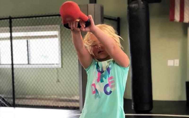 Kettlebell Kid at Triple Crown KidFit